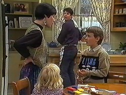Kerry Bishop, Sky Mangel, Joe Mangel, Toby Mangel in Neighbours Episode 1236