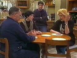 Harold Bishop, Kerry Bishop, Joe Mangel, Madge Bishop in Neighbours Episode 1236