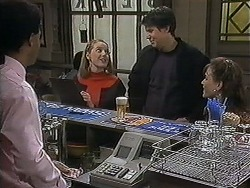 Eddie Buckingham, Melanie Pearson, Joe Mangel, Christina Alessi in Neighbours Episode 1237