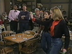 Eddie Buckingham, Joe Mangel, Clarrie McLachlan, Christina Alessi, Melanie Pearson in Neighbours Episode 1237