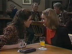 Christina Alessi, Harold Bishop, Melanie Pearson, Clarrie McLachlan in Neighbours Episode 1237