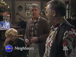 Madge Bishop, Clarrie McLachlan, Harold Bishop in Neighbours Episode 1237