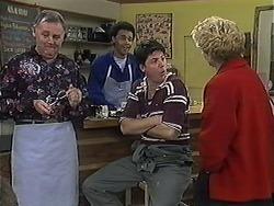 Harold Bishop, Eddie Buckingham, Joe Mangel, Madge Bishop in Neighbours Episode 1238