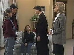 Cody Willis, Josh Anderson, Melissa Jarrett, Todd Landers, Beverly Marshall in Neighbours Episode 1239