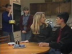 Todd Landers, Cody Willis, Melissa Jarrett, Josh Anderson in Neighbours Episode 1239