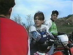 Bullet, Todd Landers, Josh Anderson in Neighbours Episode 1239