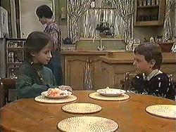 Tracey Dawson, Kerry Bishop, Toby Mangel in Neighbours Episode 1239