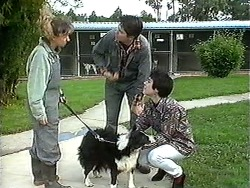 Dog Pound Attendant, Rosie, Joe Mangel, Kerry Bishop in Neighbours Episode 1241