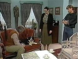 Clarrie McLachlan, Rosie, Dorothy Burke, Ryan McLachlan  in Neighbours Episode 1241