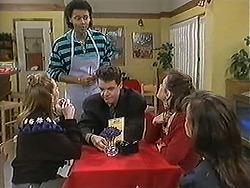 Melanie Pearson, Eddie Buckingham, Paul Robinson, Christina Alessi, Caroline Alessi in Neighbours Episode 1246