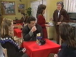Melanie Pearson, Paul Robinson, Christina Alessi, Woman, Caroline Alessi in Neighbours Episode 1246