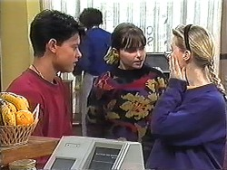 Josh Anderson, Cody Willis, Melissa Jarrett in Neighbours Episode 1247