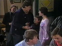 Joe Mangel, Toby Mangel, Kerry Bishop in Neighbours Episode 1248