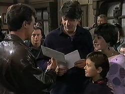 Paul Robinson, Matt Robinson, Joe Mangel, Toby Mangel, Kerry Bishop in Neighbours Episode 1248