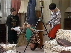 Toby Mangel, Joe Mangel, Kerry Bishop in Neighbours Episode 1248