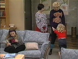 Gemma Ramsay, Kerry Bishop, Madge Bishop, Sky Mangel in Neighbours Episode 1249