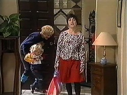 Madge Bishop, Sky Mangel, Kerry Bishop in Neighbours Episode 1249