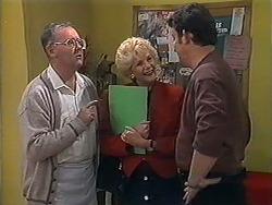 Harold Bishop, Madge Bishop, Des Clarke in Neighbours Episode 1250