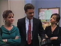 Christina Alessi, Paul Robinson, Caroline Alessi in Neighbours Episode 1250