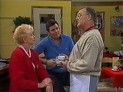 Madge Bishop, Des Clarke, Harold Bishop in Neighbours Episode 1250