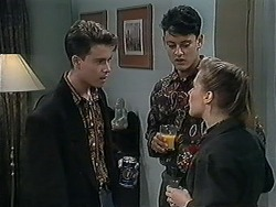 Roland, Josh Anderson, Gemma Ramsay in Neighbours Episode 1251