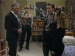 Clarrie McLachlan, Ryan McLachlan, Matt Robinson, Gemma Ramsay in Neighbours Episode 1252