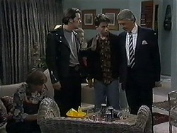 Ryan McLachlan, Matt Robinson, Roland, Clarrie McLachlan in Neighbours Episode 1252