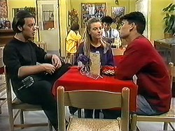 Matt Robinson, Melissa Jarrett, Josh Anderson in Neighbours Episode 1252