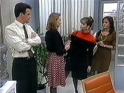 Paul Robinson, Melanie Pearson, Caroline Alessi, Christina Alessi in Neighbours Episode 1253
