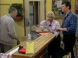 Harold Bishop, Madge Bishop, Des Clarke in Neighbours Episode 1254