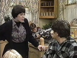Kerry Bishop, Toby Mangel, Joe Mangel in Neighbours Episode 1256