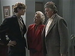 Ryan McLachlan, Helen Daniels, Clarrie McLachlan in Neighbours Episode 1257