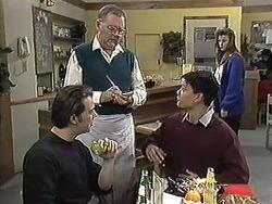 Matt Robinson, Harold Bishop, Josh Anderson in Neighbours Episode 1257