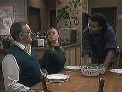 Harold Bishop, Gemma Ramsay, Eddie Buckingham in Neighbours Episode 1258
