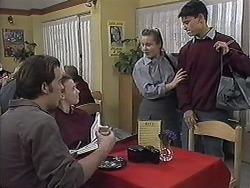 Matt Robinson, Gemma Ramsay, Melissa Jarrett, Josh Anderson in Neighbours Episode 1258