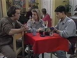 Matt Robinson, Melissa Jarrett, Josh Anderson in Neighbours Episode 1258