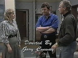 Beverly Marshall, Des Clarke, Jim Robinson in Neighbours Episode 1259