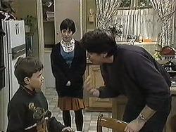 Toby Mangel, Kerry Bishop, Joe Mangel in Neighbours Episode 1259