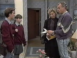 Todd Landers, Cody Willis, Beverly Marshall, Jim Robinson in Neighbours Episode 1260