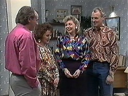 Doug Willis, Pam Willis, Beverly Marshall, Jim Robinson in Neighbours Episode 1261