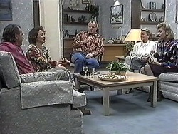 Doug Willis, Pam Willis, Jim Robinson, Helen Daniels, Beverly Marshall in Neighbours Episode 1261