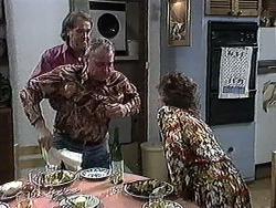 Doug Willis, Jim Robinson, Pam Willis in Neighbours Episode 1262