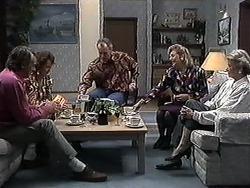 Doug Willis, Pam Willis, Jim Robinson, Beverly Marshall, Helen Daniels in Neighbours Episode 1262