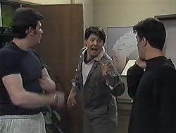 Des Clarke, Joe Mangel, Paul Robinson in Neighbours Episode 1263