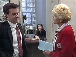 Paul Robinson, Caroline Alessi, Madge Bishop in Neighbours Episode 1264