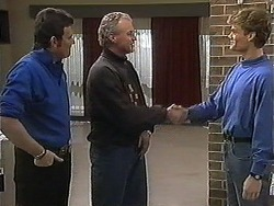 Des Clarke, Jim Robinson, Adam Willis in Neighbours Episode 1266