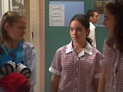 Denny Cook, Zoe Tan, Hannah Martin in Neighbours Episode 3131