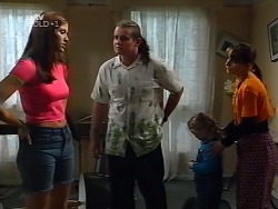 Sarah Beaumont, Toadie Rebecchi, Louise Carpenter (Lolly), Karen Oldman in Neighbours Episode 3133