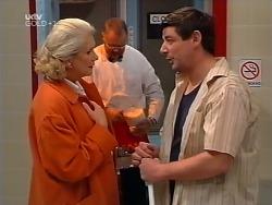 Madge Bishop, Harold Bishop, Geoff Payne in Neighbours Episode 3133