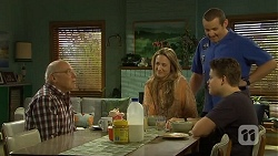 Dave (Fake Walter), Sonya Mitchell, Toadie Rebecchi, Callum Jones in Neighbours Episode 6677